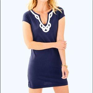 New Lilly Pulitzer BREWSTER T-SHIRT DRESS navy